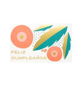 Anemone Letterpress feliz cumpleaños