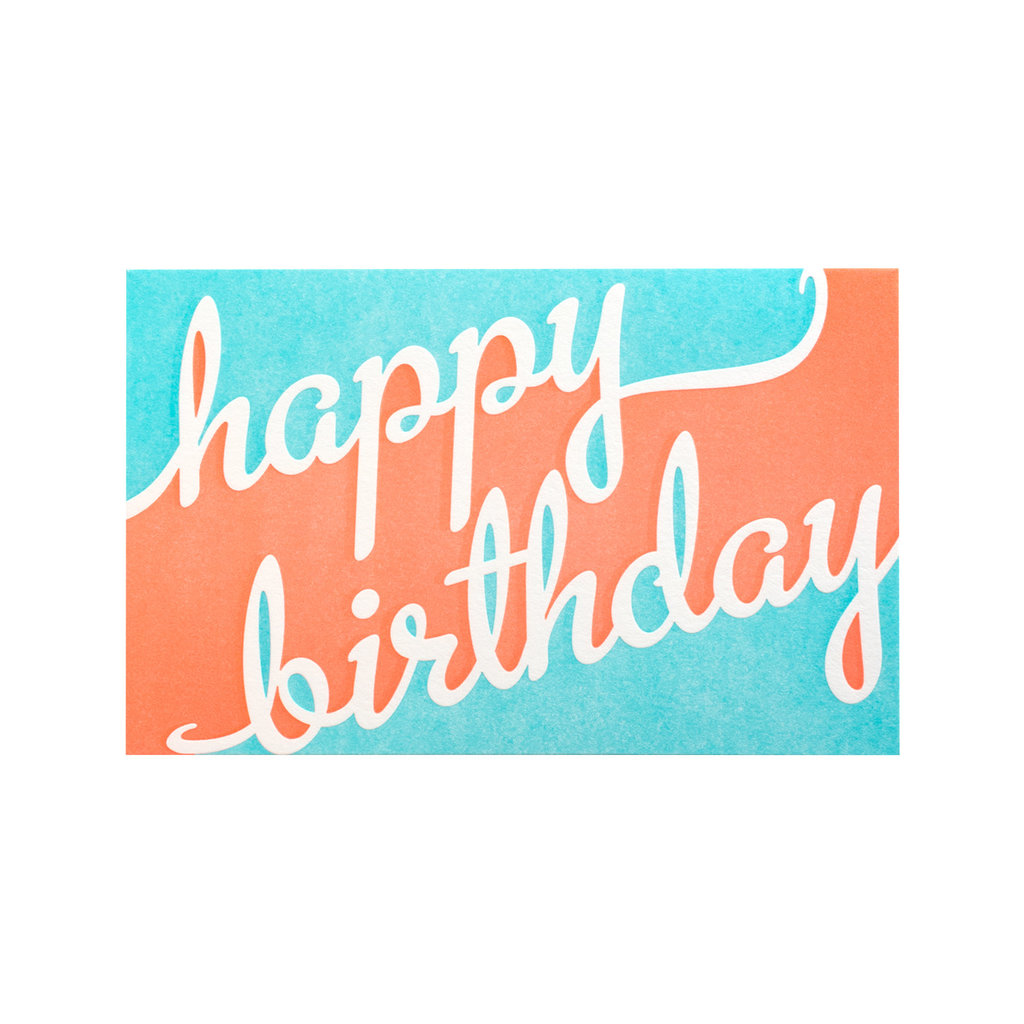 Anemone Letterpress Two Tone Birthday