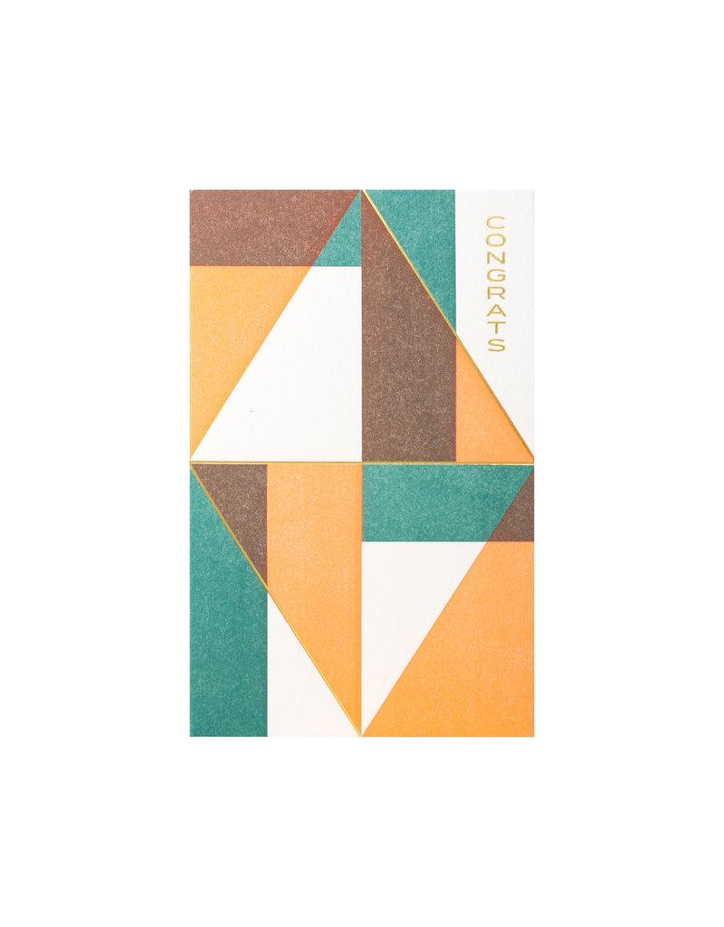 Anemone Letterpress Form Congrats
