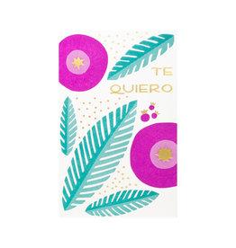 Anemone Letterpress Te Quiero