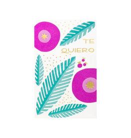 Anemone Letterpress Te Quiero Letterpress Card