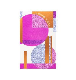 Anemone Letterpress Curve Love You Letterpress Card