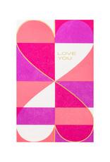 Anemone Letterpress Love You Hearts