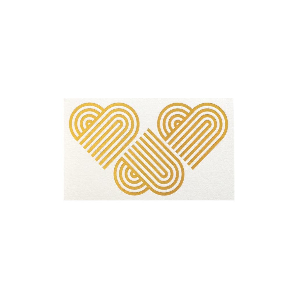Anemone Letterpress Small Hearts Enclosure