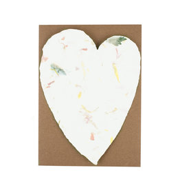 Oblation Papers & Press Handmade Paper Large Heart Floral