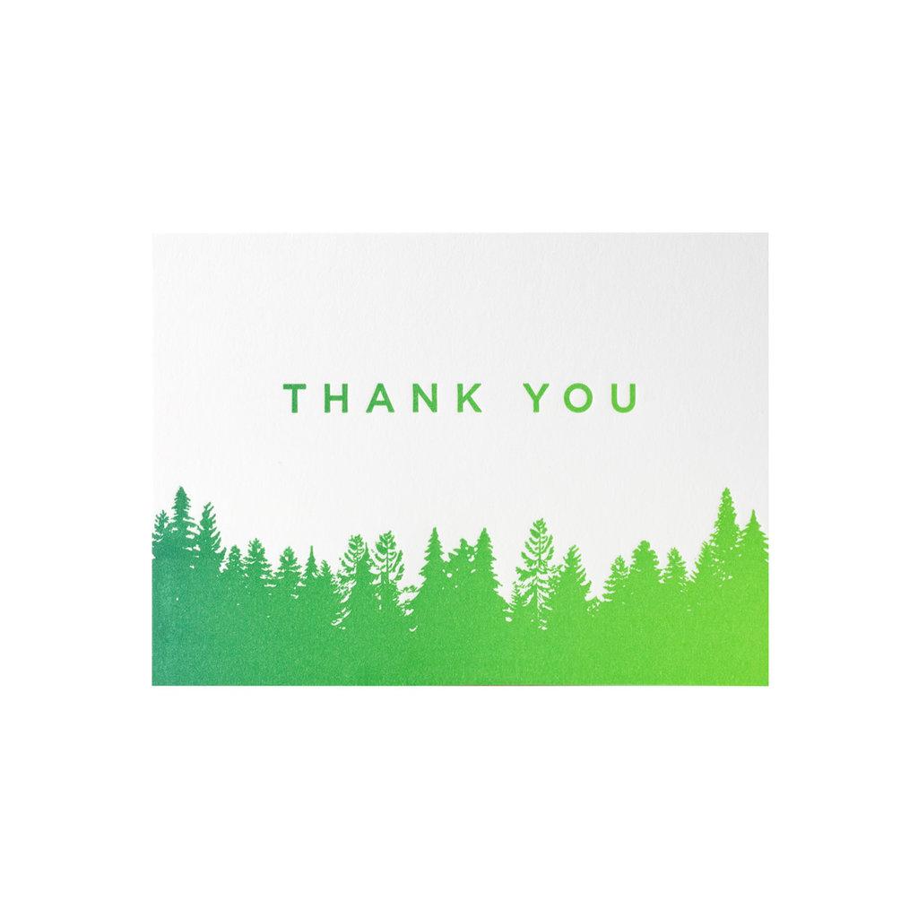 Pike Street Press Thank You Split Ink Trees box of 6