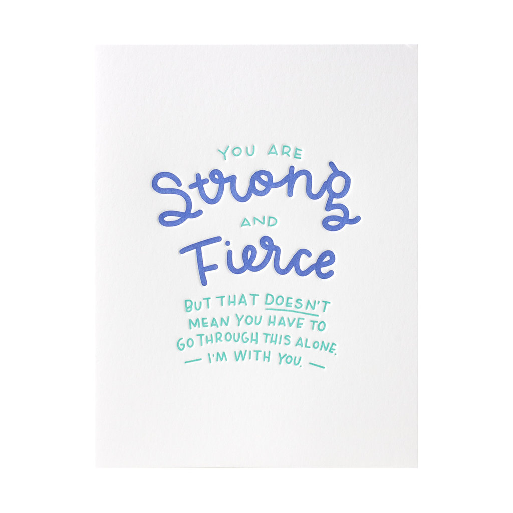 Ink Meets Paper Strong and Fierce letterpress carr