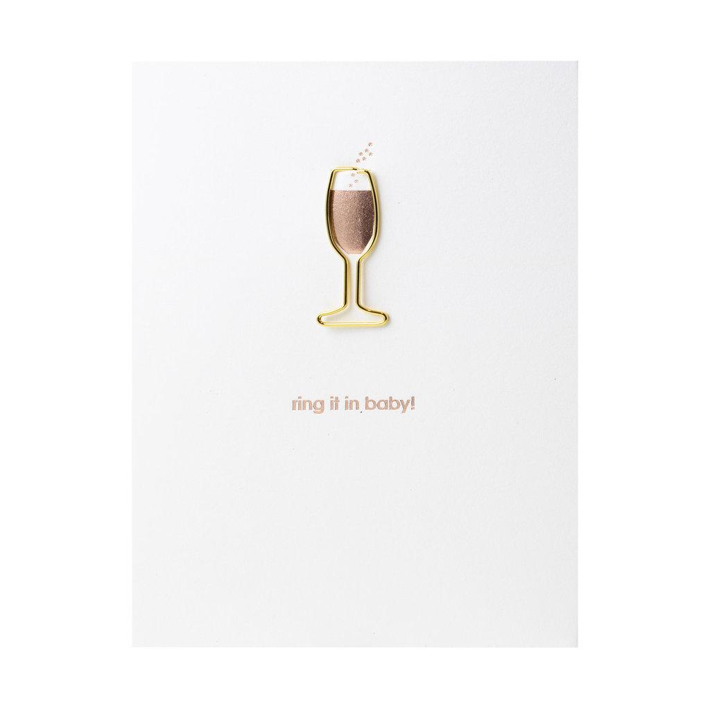Chez Gagne Ring It In Baby! Letterpress Card
