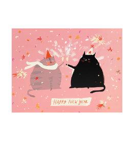 Happy New Year Cat Card