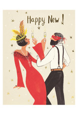 Gatsby New Year Foil Holiday card