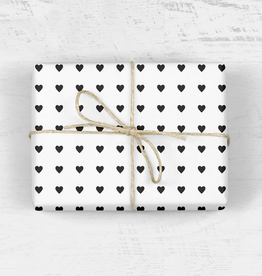 mellowworks Sweet Hearts Black & White - Single Wrap Sheet