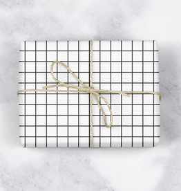 mellowworks Modern Grid Black & White - Single Wrap Sheet