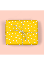 mellowworks Polka Dots Golden Yellow - Single Wrap Sheet