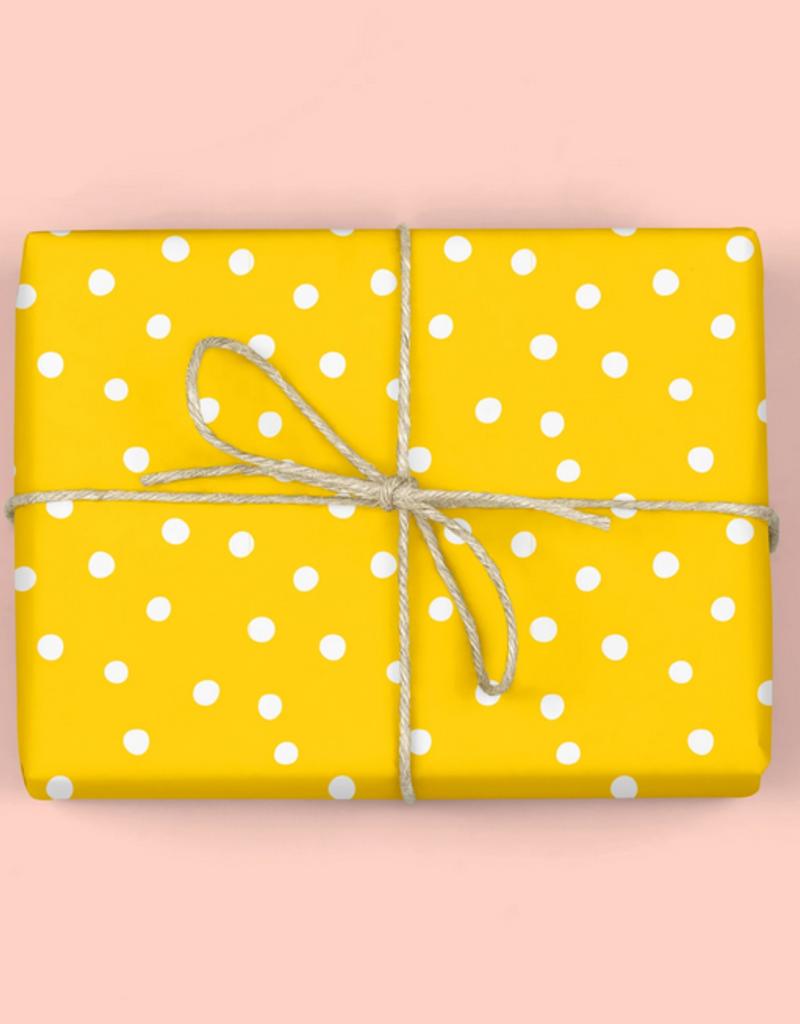 mellowworks Polka Dots Golden Yellow - Single Wrap Sheet