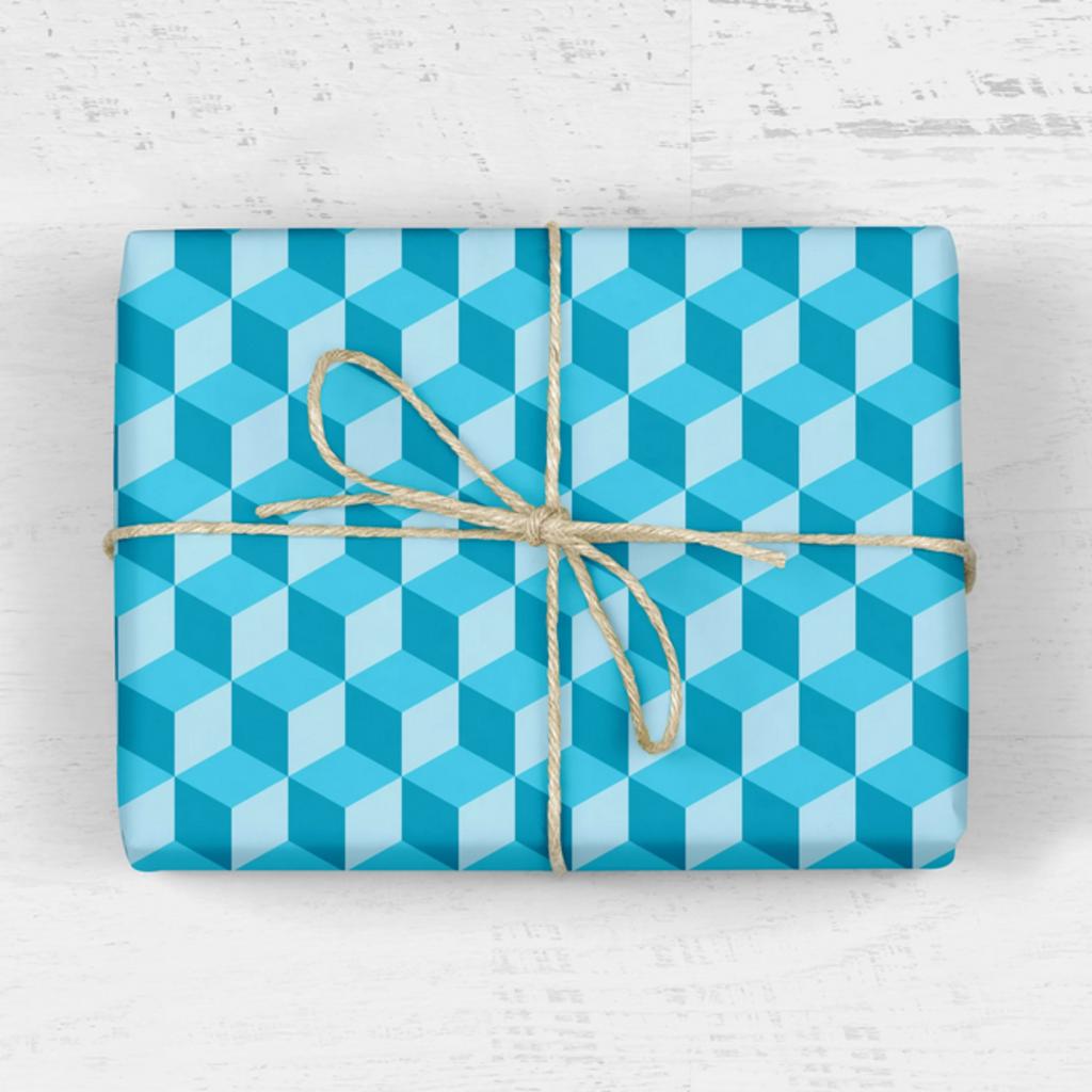 mellowworks Retro Hexagon Teal - Single Wrap Sheet
