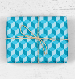 mellowworks Retro Hexagon Teal - Single Wrap Sheet