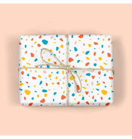mellowworks Terrazzo White Multi-Speckles - Single Wrap Sheet