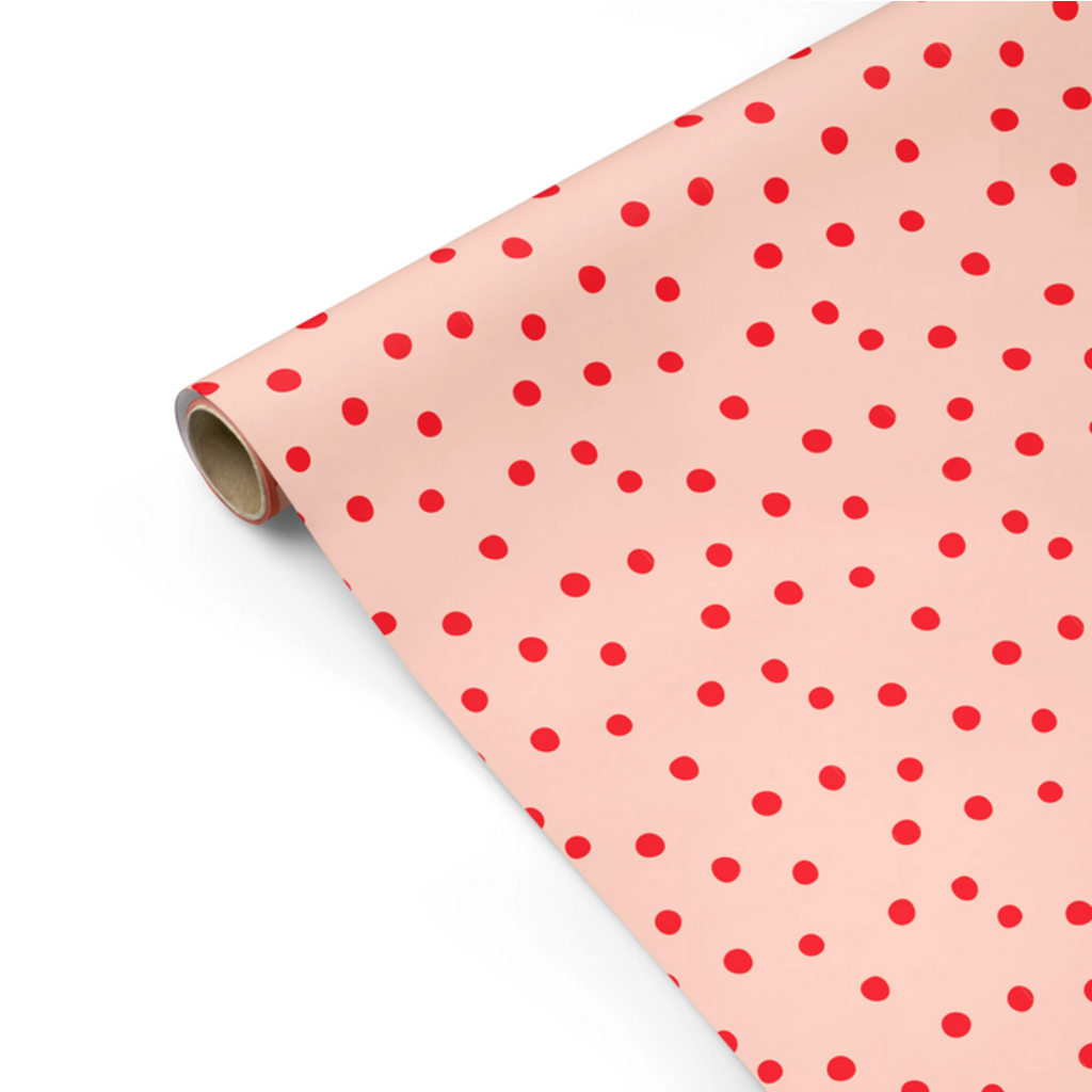 mellowworks Modern Blush Polka Dots - Single Wrap Sheet