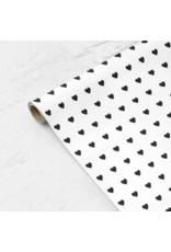 mellowworks Sweet Hearts Black & White - Single Wrap Sheet