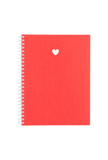 Appointed Heart Blank Workbook In Strawberry Red