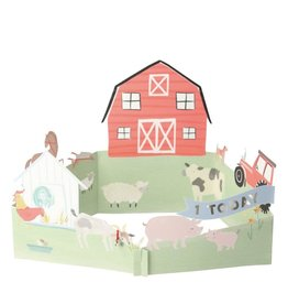 Meri Meri On the Farm First Birthday - 3D Scene Card