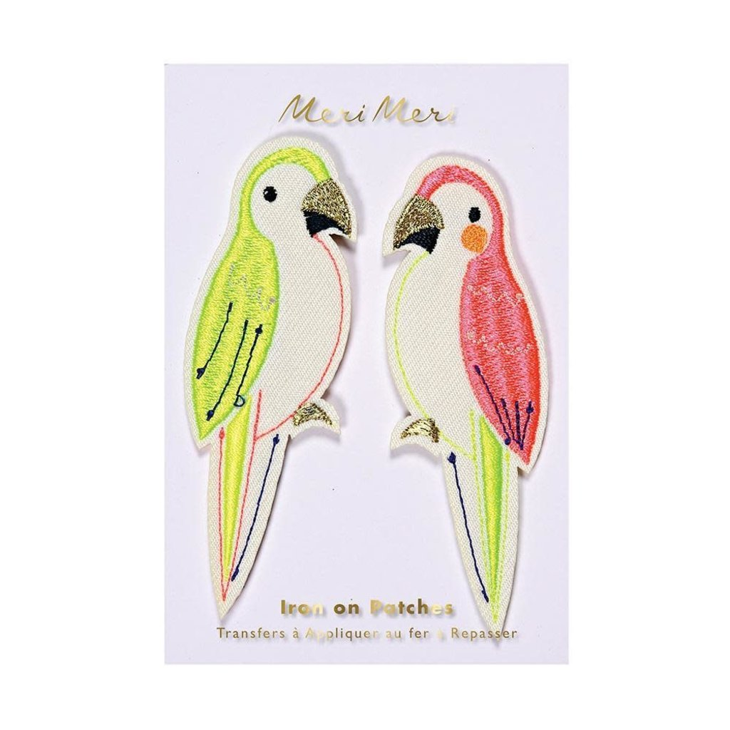 Meri Meri Parrots Embroidered Patches