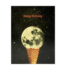 Birthday Moon Ice Cream Card