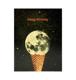 Birthday Moon Ice Cream Card