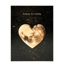 Birthday Heart Moon Card