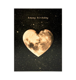 Birthday Heart Moon Card