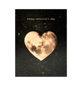 Valentine's Heart Moon Card