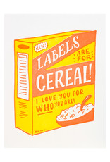 Ladyfingers Letterpress Labels Are For Cereal - Letterpress Card