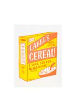 Ladyfingers Letterpress Labels Are For Cereal Letterpress Card