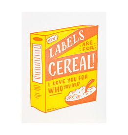 Ladyfingers Letterpress Labels Are For Cereal - Letterpress Card