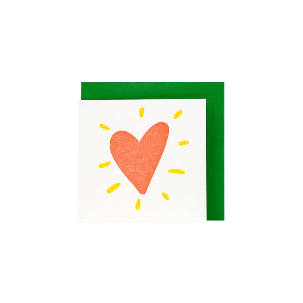 Ladyfingers Letterpress Tiny Heart - Letterpress Enclosure Card