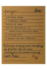 Belle & Union Bread & Butter Love Recipe - Letterpress Card