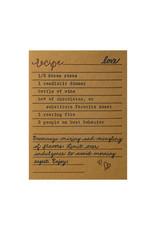 Belle & Union Bread & Butter Love Recipe - Letterpress Card
