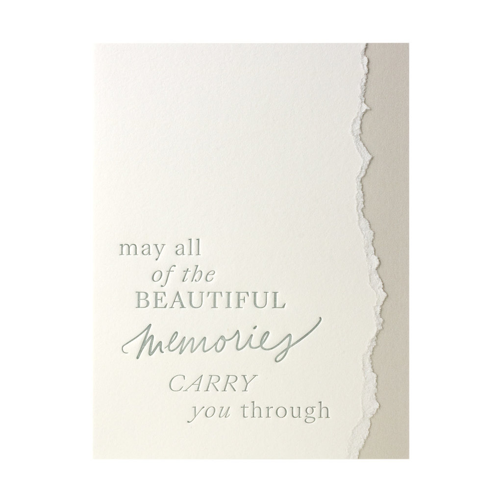 Belle & Union Beautiful Memories - Letterpress Card