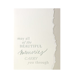 Belle & Union Beautiful Memories - Letterpress Card