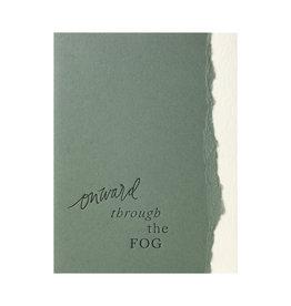 Belle & Union Onward Through The Fog - Letterpress Card