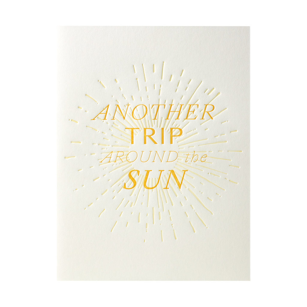 Belle & Union Another Trip Around The Sun - Letterpress Card
