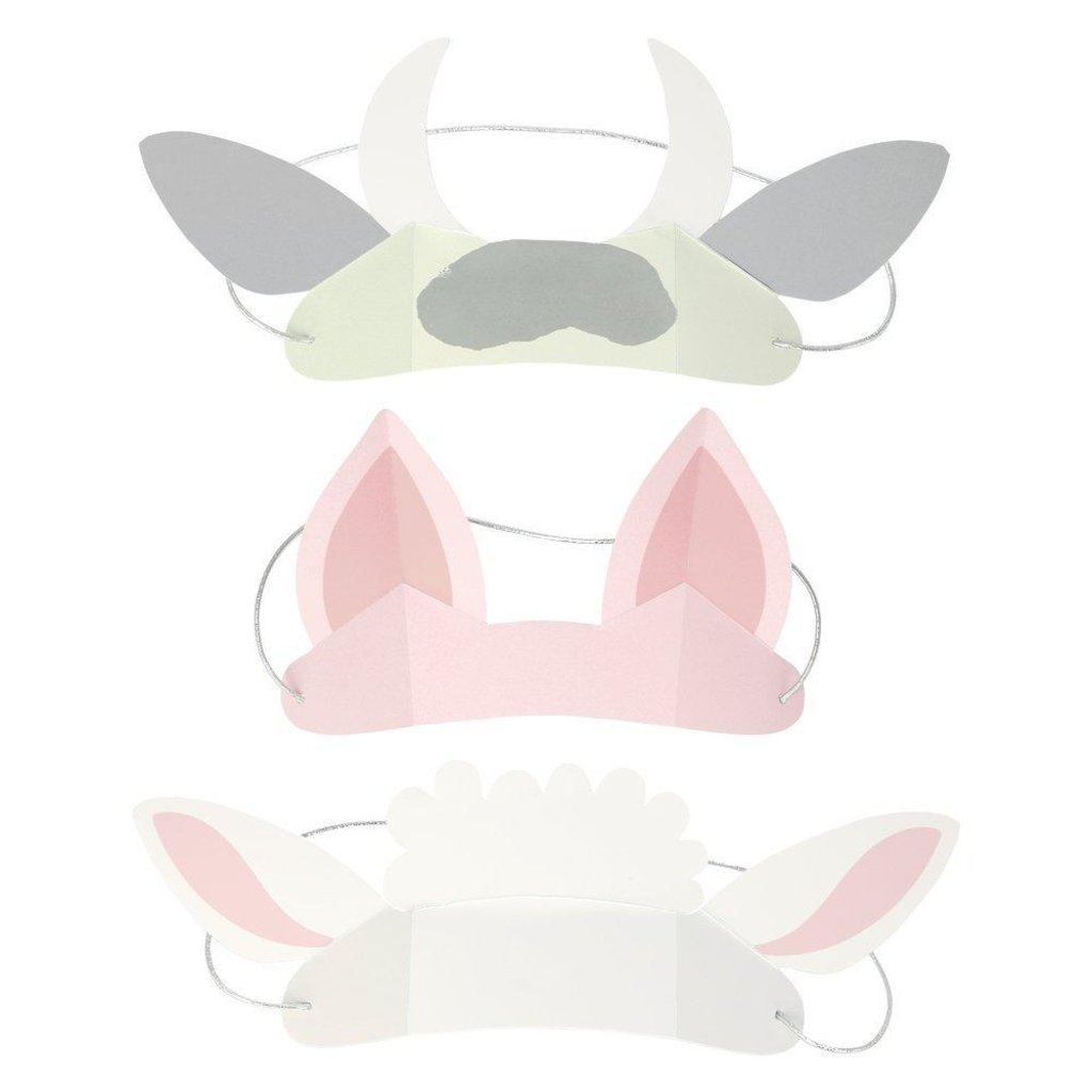 Meri Meri On the Farm Animal Ears - Set of 8