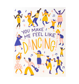 Hello! Lucky Feel Like Dancing - Letterpress Card