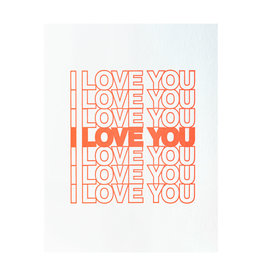 Ashkahn I Love You I Love You - Letterpress Card