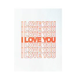 Ashkahn I Love You I Love You Letterpress Card