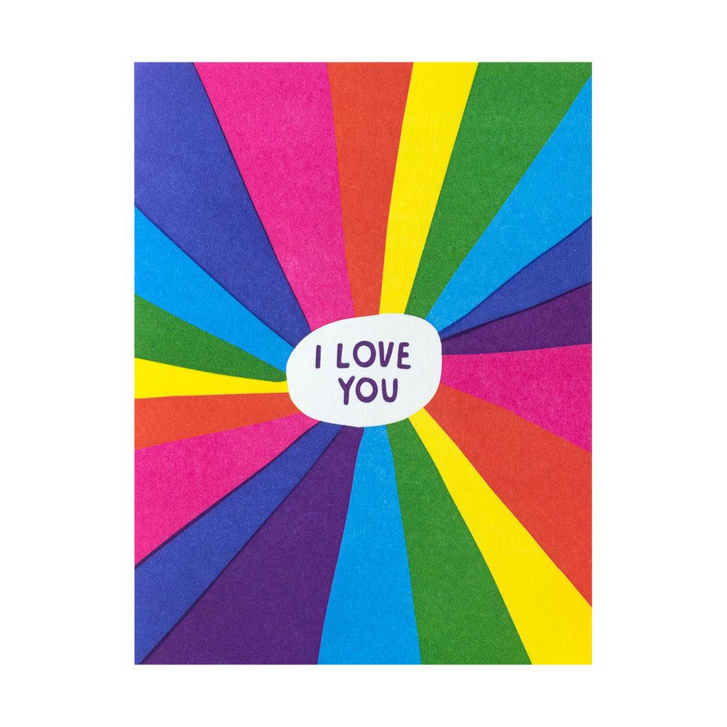 Ashkahn Rainbow Love You Letterpress Card