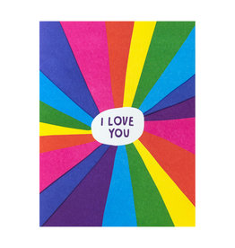 Ashkahn Rainbow Love You - Letterpress Card