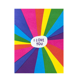 Ashkahn Rainbow Love You Letterpress Card