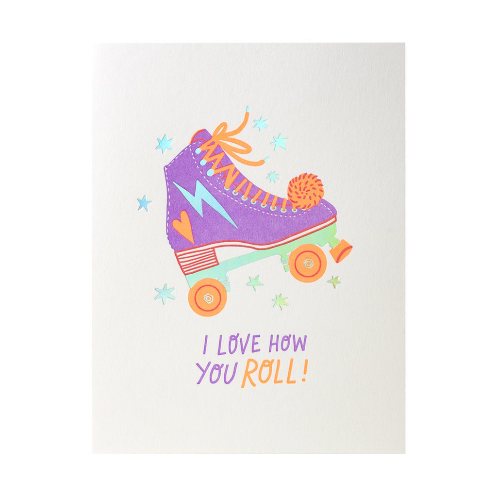 Hello! Lucky Love How You Roll - Letterpress Card