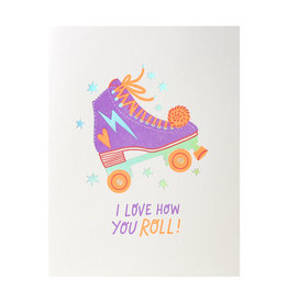 Hello! Lucky Love How You Roll Letterpress Card